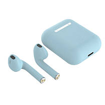 Беспроводные bluetooth-наушники i12 5.0 с кейсом, blue, фото 2