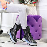 Высокие черные женские зимние ботинки на утолщенной подошве 36-23 37-24 39-25 см, фото 3