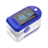 Медицинский электронный прибор пульсометр (пульс-оксиметр) на палец LK87 для всей семьи