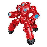 Робот на радио управлении Whirlwind Ares аккумуляторы, игрушка для мальчика стреляет Красный