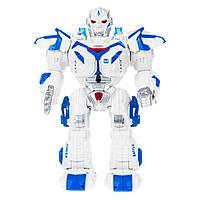 Робот на радио управлении Rocket Man на аккумуляторах, игрушка для мальчика на пульте управление звуками Синий