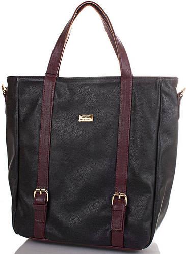 Крепкая женская сумка из качественного кожезама  ETERNO (ЭТЕРНО) ETMS32884217-black (черный)