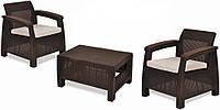 Комплект мебели Keter Curver CORFU WEEKEND 09119 (2 кресла, стол)