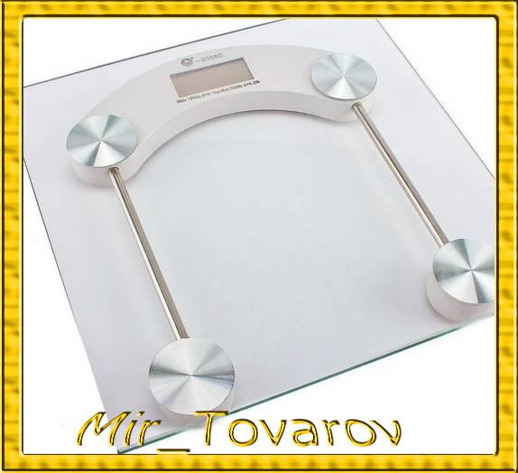 Ваги підлогові квадратні скляні до 150кг