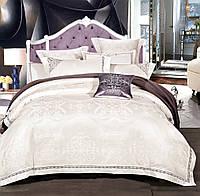 Комплект постельного белья Love You 1-39 Жаккард Th18371 КПБ евро вышивка