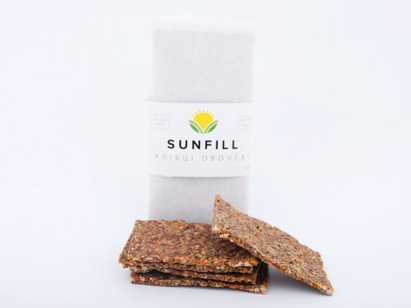 Натуральні хлібці з овочами, Sunfill 100 г
