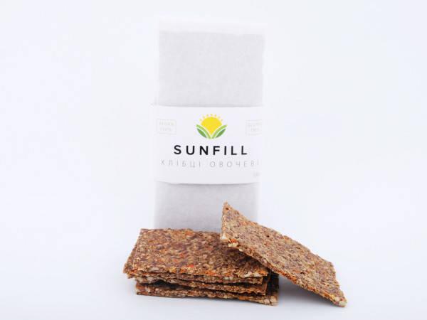 Натуральні хлібці з овочами, Sunfill 100 г, фото 2