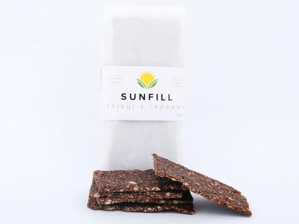 Натуральні хлібці з грибами, Sunfill 100 г