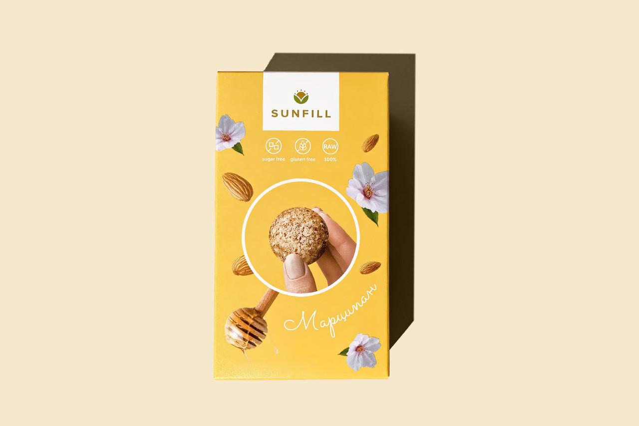 Натуральні цукерки марципан, Sunfill 150 г