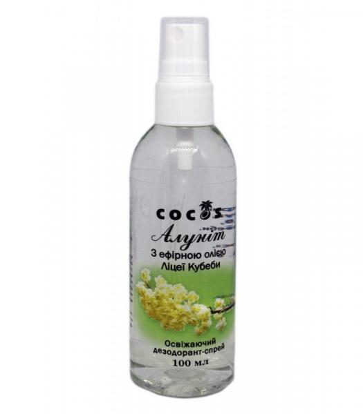 Дезодорант Алуніт спрей з єфірним маслом Ліцеї Кубеби, 100 мл