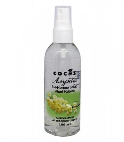 Дезодорант Алуніт спрей з єфірним маслом Ліцеї Кубеби, 100 мл, фото 2
