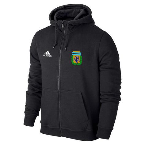 Мужская спортивная толстовка (кофта) сборной Аргентины-Адидас, Argentina, Adidas, черная, фото 2