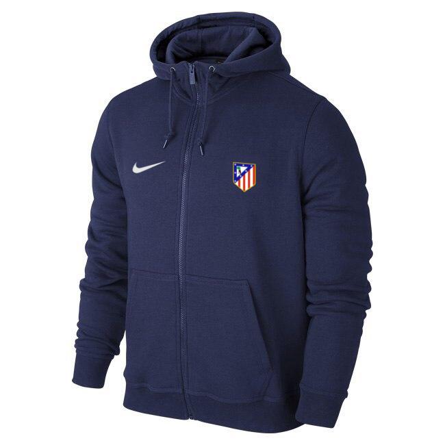 Чоловіча спортивна толстовка (кофта) Атлетіко-Найк, Atletico, Nike, синя