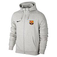 Мужская спортивная толстовка (кофта) Барселона-Найк, Barcelona, Nike, серая