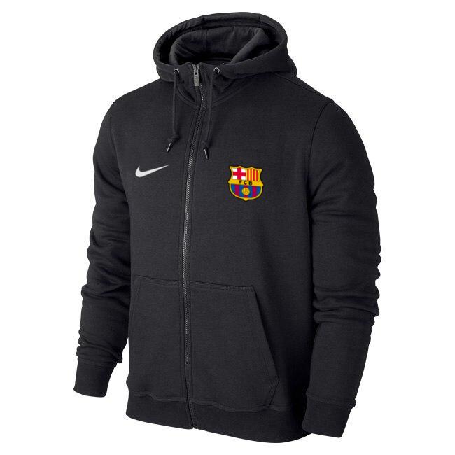 Чоловіча спортивна толстовка (кофта) Барселона-Найк, Barcelona, Nike, чорна