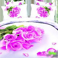 Комплект постельного белья Love You Нежность Сатин 3D КПБ семейный
