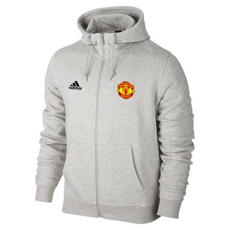 Мужская спортивная толстовка (кофта) Манчестер Юнайтед-Адидас, ManchesterUnited,Adidas, серая, фото 2