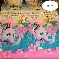 Комплект постельного белья для девочек Барби и Слоник