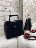 Сумочка комбинированная нат.замша/кожзам качество люкс арт.0221-1, фото 10