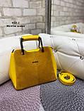 Сумочка комбинированная нат.замша/кожзам качество люкс арт.0221-1, фото 4