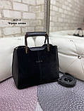 Сумочка комбинированная нат.замша/кожзам качество люкс арт.0221-1, фото 5