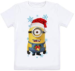 Детская футболка Новогодний Миньон (для мальчика)
