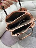 Сумочка комбінована нат.замша/кожзам якість люкс арт.0221-1, фото 4