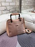 Сумочка комбинированная нат.замша/кожзам качество люкс арт.0221-1, фото 2