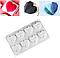 Форма силиконовая для евродесертов Сердце граненое 3D из 8 шт, фото 3