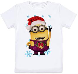Детская футболка Новогодний Миньон 2 (для мальчика)