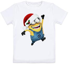 Детская футболка Новогодний Миньон 3 (для мальчика)