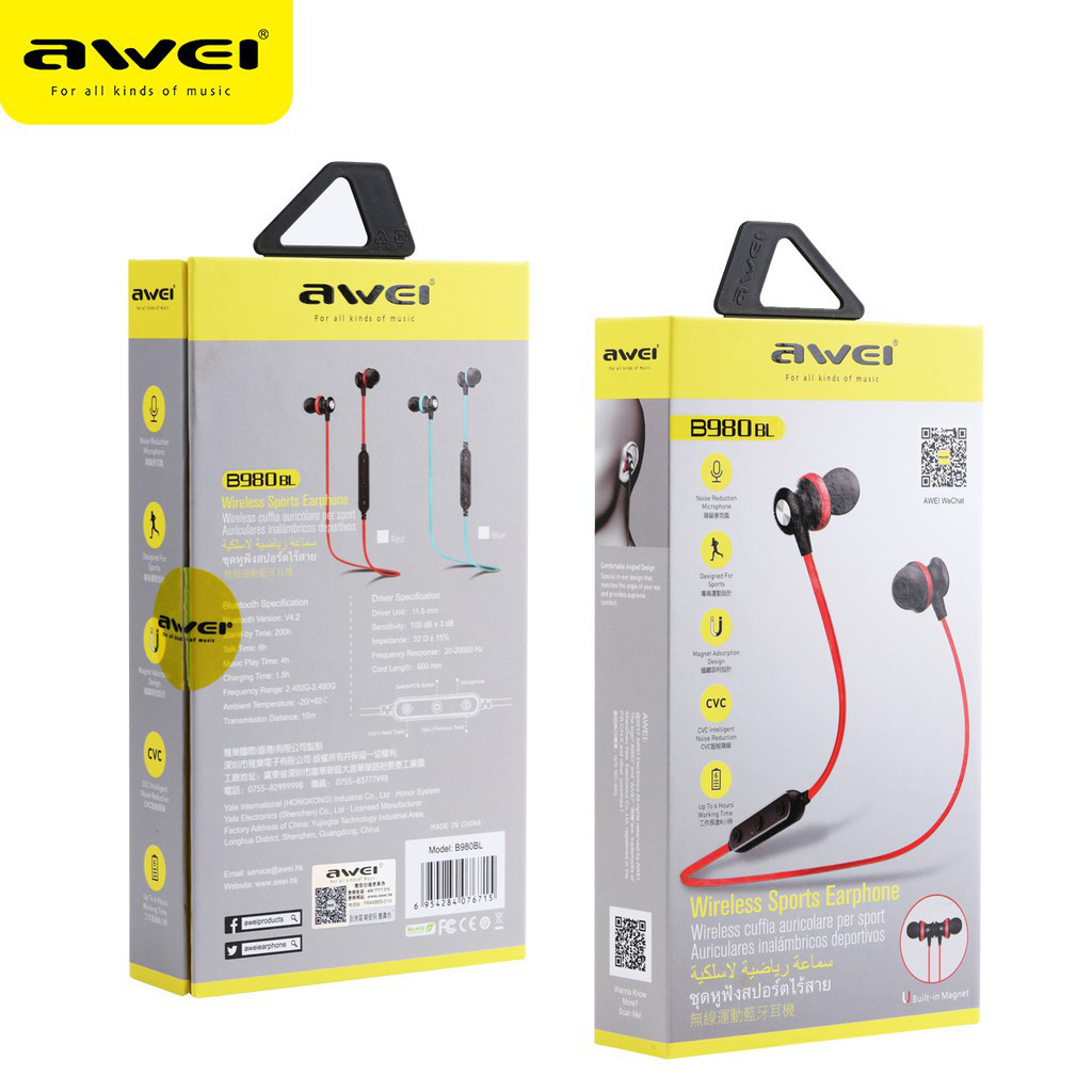 Навушники B980BL Bluetooth earphone