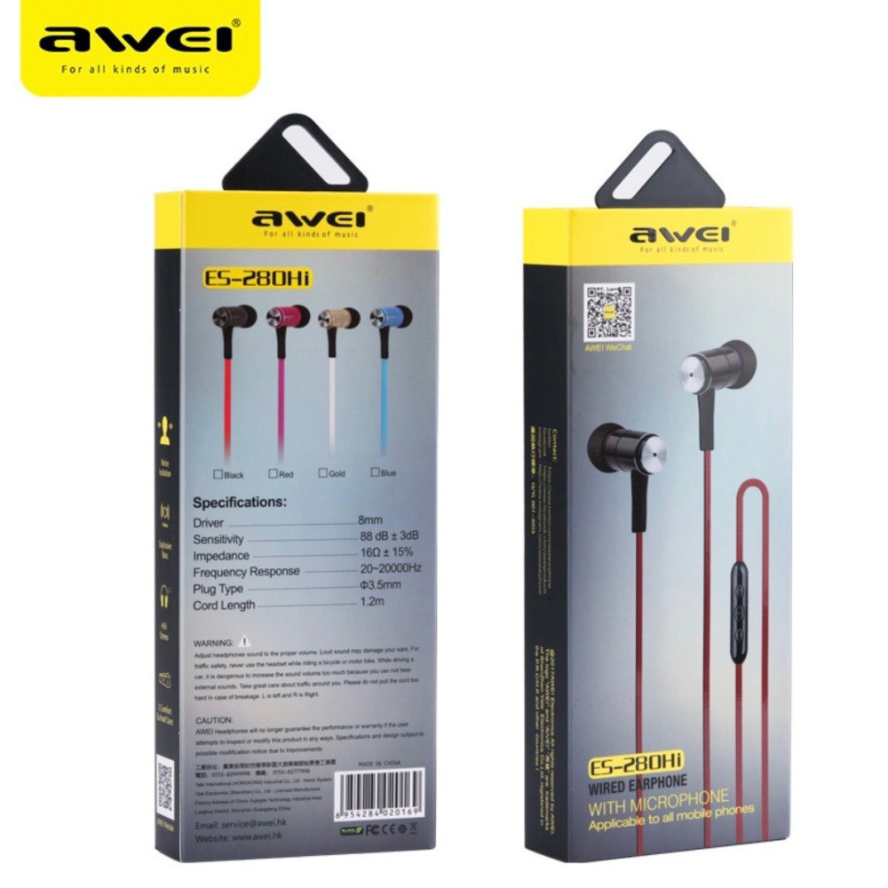 Навушники ES280hi wired earphone