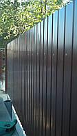 Забор из профнастила монтаж строительство