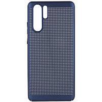 Ультратонкий дышащий чехол Grid case для Huawei P30 Pro (Темно-синий) 707711
