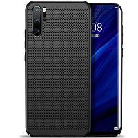 Ультратонкий дышащий чехол Grid case для Huawei P30 Pro (Черный) 707712