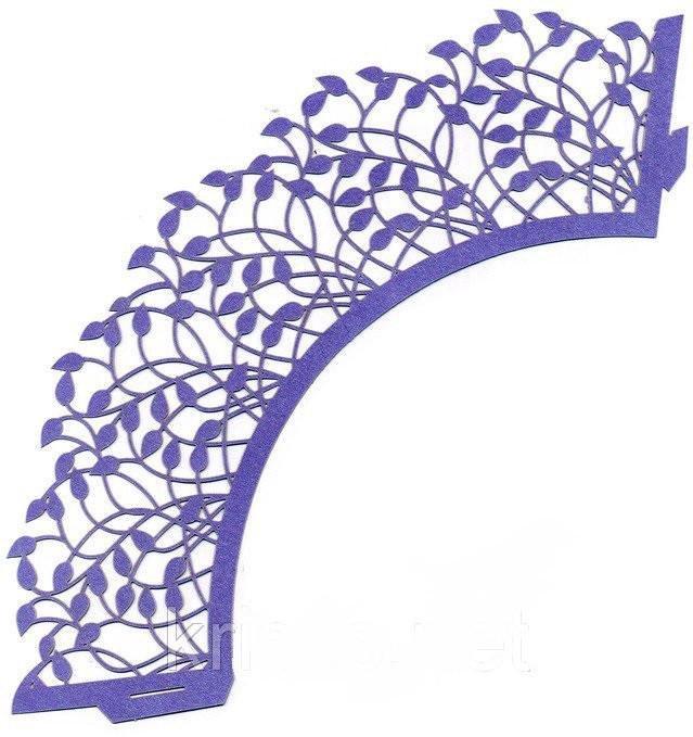 Накладка паперова декоративна ажурна для мафінів різних кольорів (уп 20 шт)