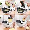 Овочерізка з друшляком-контейнером терка, шинкування, подрібнювач VC2, фото 3