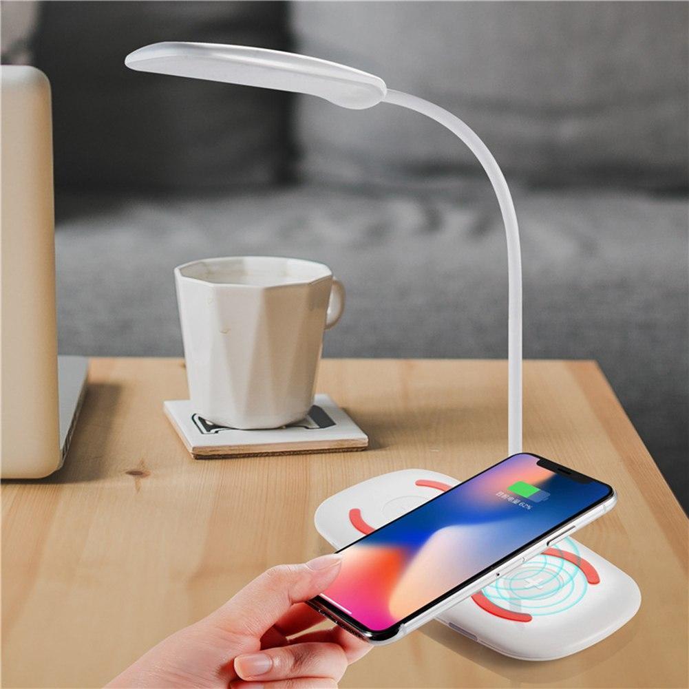 Беспроводное зарядное устройство для мобильного + лампа LED QL8