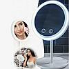 Косметичне дзеркало настільне NuBrilliance Beauty Breeze Mirror з підсвічуванням і вентилятором, фото 2