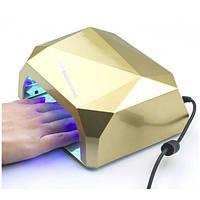 Уфо лампа для ногтей 36W Diamond Gold   Гібридна лампа для сушки гель-лаку