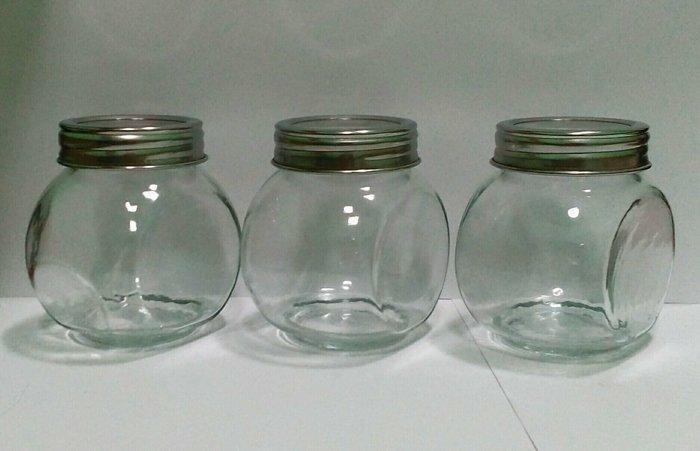 Емкость стеклянная для хранения с крышкой V 200 мл (набор 3 шт)