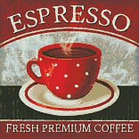 """Вышивка алмазная мозаика """"Премиум кофе"""" на подрамнике 40x40, полная выкладка"""