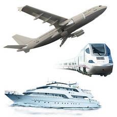 Авиа-, ж/д-, водный транспорт