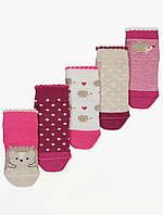 Набір дитячих шкарпеток з їжачками - 5 пар для дівчинки Джордж