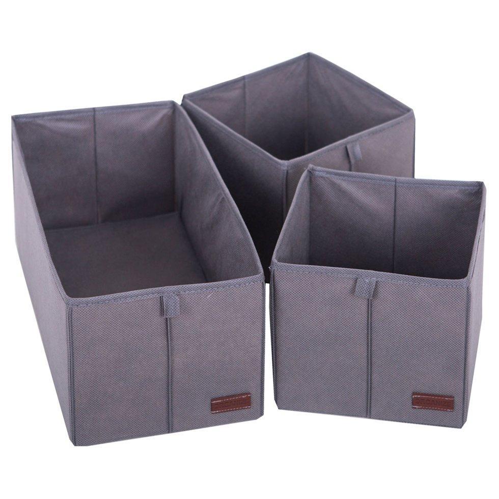 Набор коробочек для дома ORGANIZE KHY-grey серый