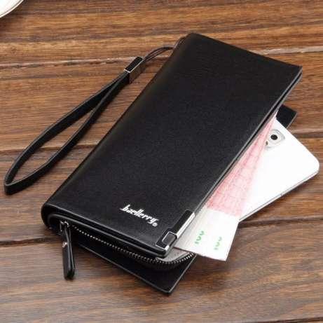 Мужской кошелек клатч портмоне Baellerry Classic черный