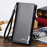 Мужской кошелек клатч портмоне Baellerry Classic черный, фото 7