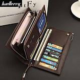 Мужской кошелек клатч портмоне Baellerry Classic черный, фото 3