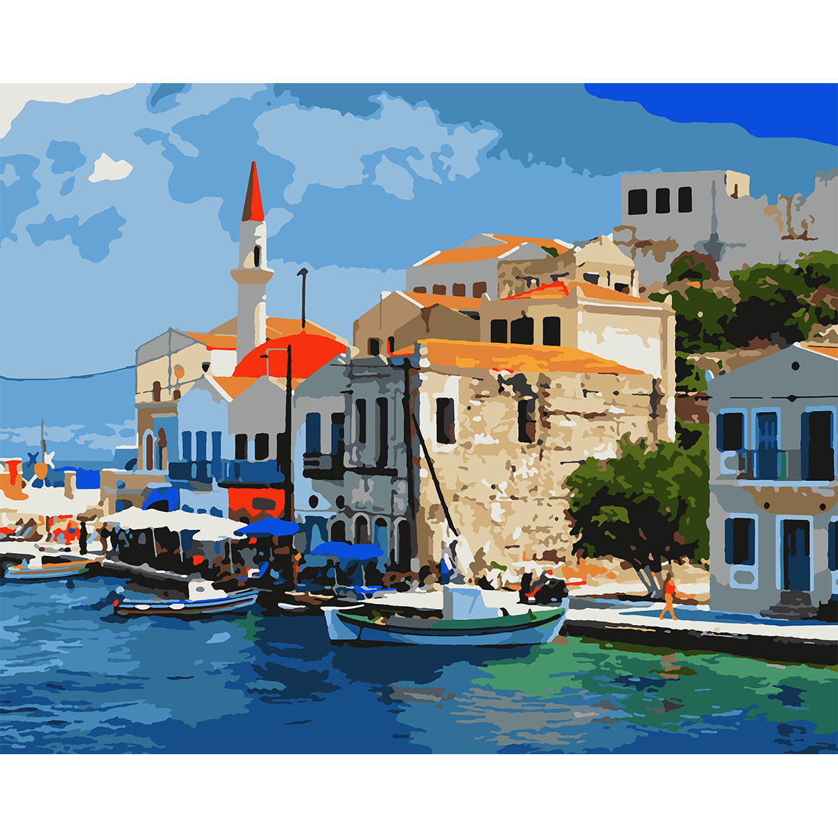 """Набор, картина по номерам """"Тихая гавань"""", 40*50 см., SANTI"""